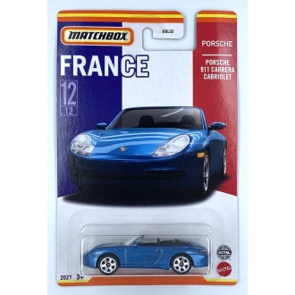 Matchbox 1:64 Best of France - Porsche 911 Carrera Cabriolet Blue