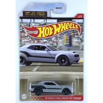 Hot Wheels 1:64 1/4 Miles Series - 2018 Dodge Challenger SRT Demon Grey
