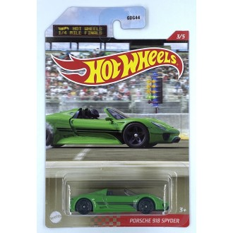 Hot Wheels 1:64 1/4 Miles Series - Porsche 918 Spyder Green