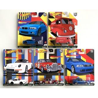 Hot Wheels 1:64 Car Culture - Deutschland Design - Set 5 Szt.