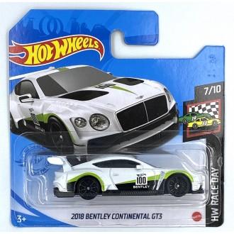Hot Wheels 1:64 2018 Bentley Continental GT3 White
