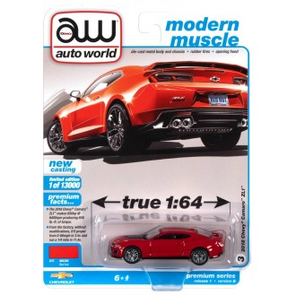 Auto World 1:64 - 2018 Chevrolet Camaro ZL1 Red Hot