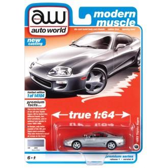 Auto World 1:64 - 1993 Toyota Supra Alpine Silver