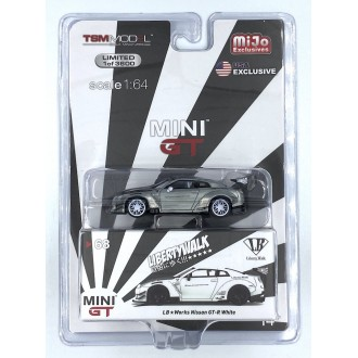 Mini GT 1:64 LB WORKS Nissan GT-R (R35) White CHASE