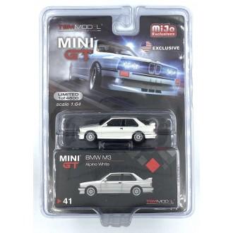 Mini GT 1:64 BMW M3 Alpine White LHD