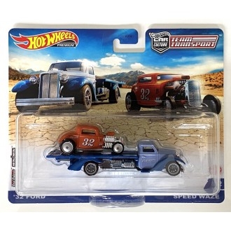 Hot Wheels 1:64 Team Transport - Speed Waze & 1932 Ford Hot Rod