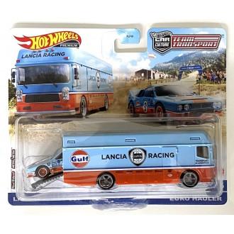 Hot Wheels 1:64 Team Transport - Euro Hauler Lancia Racing & Lancia Rally 037 Gulf