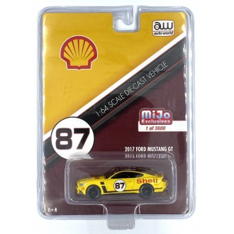 Auto World 1:64 2017 Ford Mustang GT Yellow/Red Shell