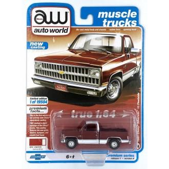 Auto World 1:64 - 1981 Chevrolet Silverado Carmine Red