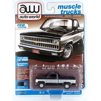 Auto World 1:64 - 1981 Chevrolet Silverado Gloss Black