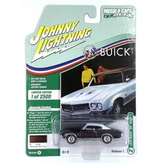 Johnny Lightning 1:64 Muscle Cars U.S.A. - 1970 Buick GS Burgundy Mist Poly