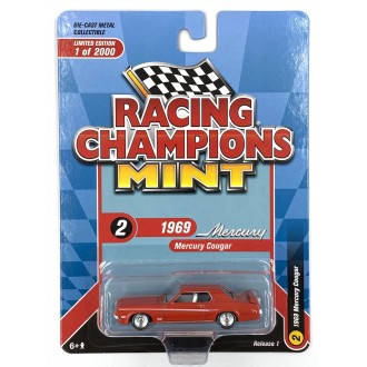 Racing Champions 1:64 1969 Mercury Cougar Eliminator Boss 302 Competition Orange