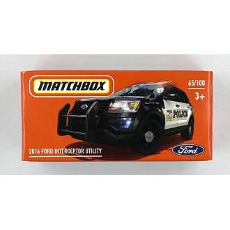 Matchbox 1:64 Power Grab - 2016 Ford Police Interceptor Utility