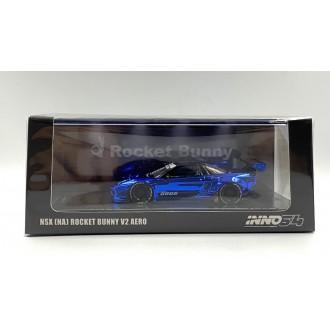 Inno64 1:64 Honda NSX NA Rocket Bunny V2 AERO Chrome Blue