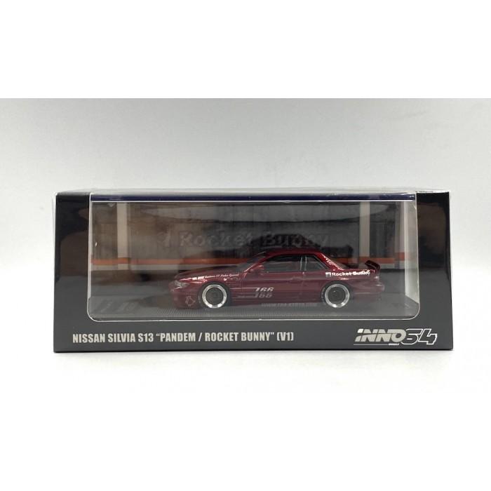 Inno64 1:64 Nissan Silvia S13 Pandem Rocket Bunny V1 Red Metallic