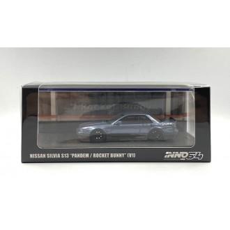 Inno64 1:64 Nissan Silvia S13 Pandem Rocket Bunny V1 Blue/Grey Metallic