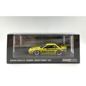 Inno64 1:64 Nissan Silvia S13 Pandem Rocket Bunny V2 Light Yellow