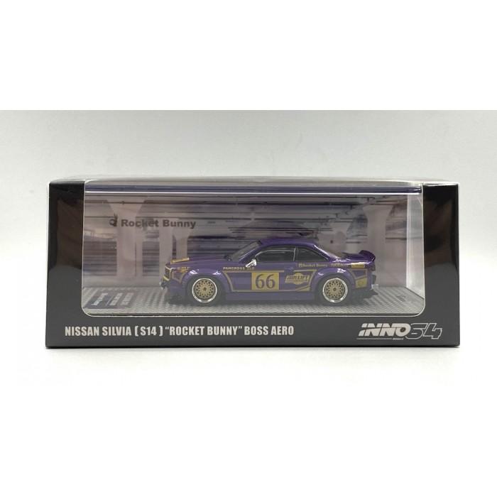 Inno64 1:64 Nissan Silvia S14 Rocket Bunny Boss Aero Metallic Purple