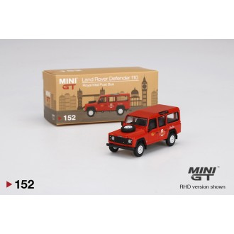 Mini GT 1:64 Land Rover Defender 110 UK Royal Mail Post Bus RHD