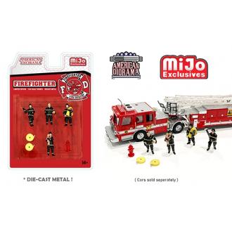 American Diorama 1:64 - Firefighter Figure Set