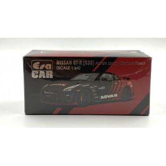 Era Car 1:64 Nissan GT-R(R35) Nismo Advan Livery Carbon Fiber Black Red