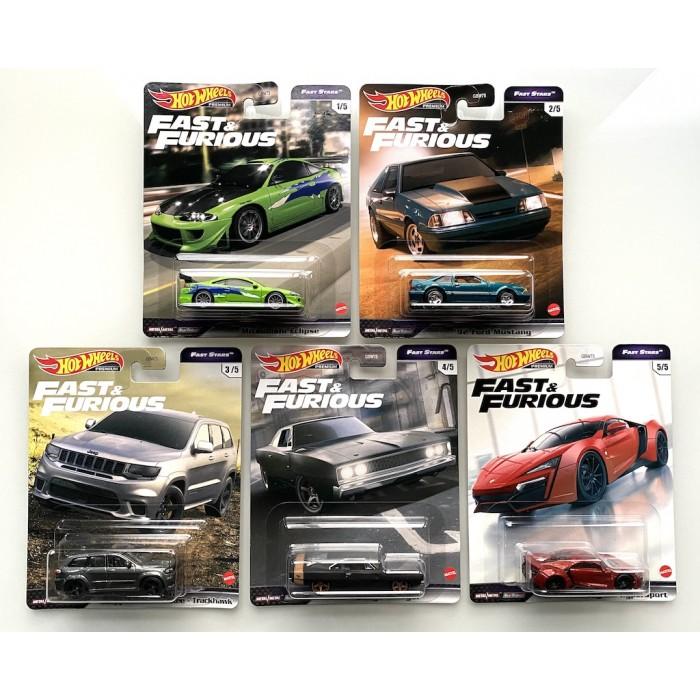 Hot Wheels 1:64 Fast & Furious - Fast Stars - Set 5 Szt.