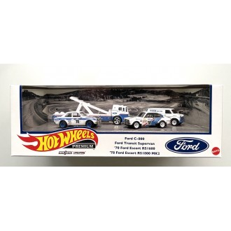 Hot Wheels 1:64 Premium Set - Ford Rallye no.7 Diorama