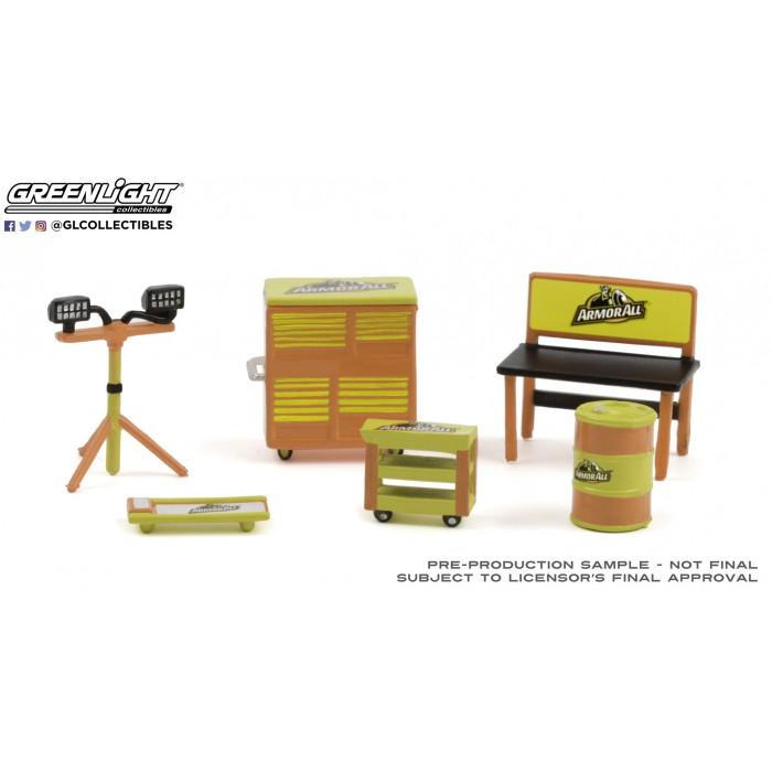 Greenlight 1:64 Diorama - Shop Tool Accessories ArmorAll